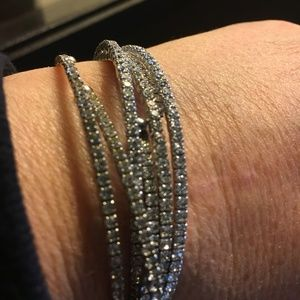 Jewelry - TWO CRYSTAL BRACELETS STACKABLE